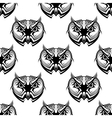 Seamless pattern of wise old owls vector