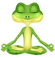Frog cartoon doing yoga vector