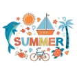 Summer colorful composition vector