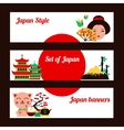 Japan banner set vector