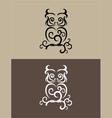 Owl decor vector