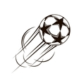 Soccer ball with stars flying through the air vector
