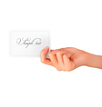 Woman hand with card vector