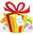 Funny christmas gift isolated on white background vector
