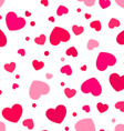 Cute pink and red hearts vector