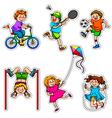 Active kids vector