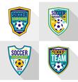 Set of soccer championship emblems vector