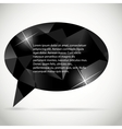 Abstract beautiful diamond speech bubble vector