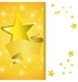 Postcard with a tape star and sequins vector