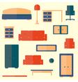Set of furniture vector