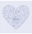 I love the sea heart vector