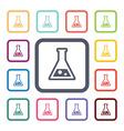 Laboratory flat icons set vector