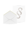 Envelope and paper with paragraph vector