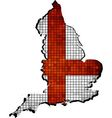 England map with flag inside vector