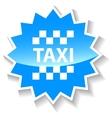Taxi blue icon vector