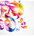 Abstract colorful arc-drop background vector