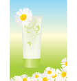 Chamomile cream vector