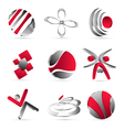 Red business icons design vector