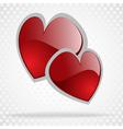 Background day valentine on white vector