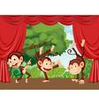 Monkeys on stage vector