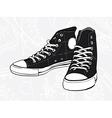 Black sneakers vector