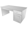 Wooden desk vector