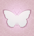 Abstract background with paper butterfly eps10 vector