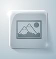 Picture image glass square icon vector