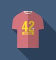 Finisher shirt for marathon runner vector