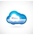 Blue technology cloud vector