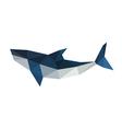 Poligonal origami shark vector