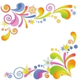 Abstract flourish colorful background vector