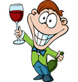 Man with a glass of wine - businessman toast the vector