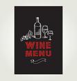Cocktail wine bar menu template design vector