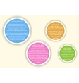 Infographics with colorful circles of different vector