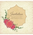Hand drawn flower abstract background ornament vector