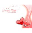 Beautiful heart background vector