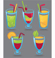Fresh funny drinks vector