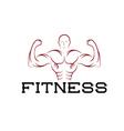Bodybuilder fitness model silhouette design vector