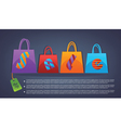 Commercial background with shopping bags vector