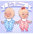 Baby shower - boy and girl vector
