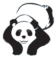 Cute panda tribal sleeping on a white background vector