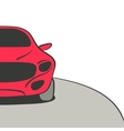 Red car background vector