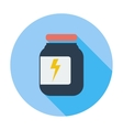 Jar flat icon vector
