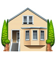 A house with houseplants vector
