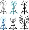 Radio tower symbols vector