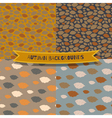 Set of 4 seamless autumn patterns vector