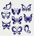 Various butterflies vector