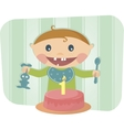 Cute baby celebrating birthday vector