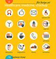 Business icon set healthcare medicine diagnostics vector